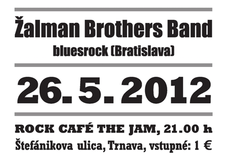 Žalman Brothers Band at Rock Café The Jam